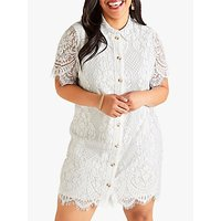 shop for Yumi Curves Delicate Lace Dress, White at Shopo