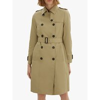 Jaeger Long Cotton Trench Coat, Stone