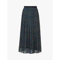 L.K.Bennett Avery Spot Print Pleated Midi Skirt, Midnight