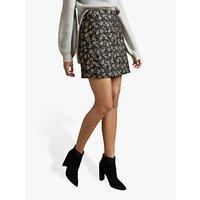 Ted Baker Rainie Floral Jacquard Mini Skirt, Black/Multi