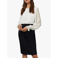 Ted Baker Lizzata Pencil Skirt Midi Dress, Dark Blue
