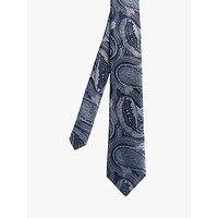 shop for Ted Baker Drawn Paisley Silk Tie, Navy at Shopo