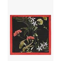 shop for Ted Baker Anatola Silk Floral Pocket Square, Black/Red at Shopo