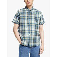 shop for Kin Neon Check Short Sleeve Shirt, Blue at Shopo