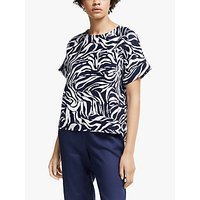 shop for John Lewis & Partners Linen Shell Top, Navy/White at Shopo