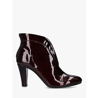 shop for Carvela Comfort Rida Patent Leather Ankle Boots, Red Wine at Shopo