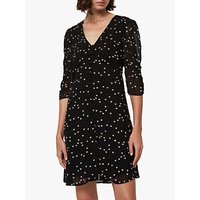 Allsaints Malie Heart Mini Dress, Black