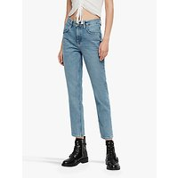 AllSaints Brooke Straight Leg Jeans, Indigo Blue