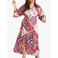 shop for Yumi Curves Scarf Print Dress, Multi at Shopo