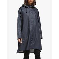 shop for Ilse Jacobsen Hornbæk A-Line Raincoat, Dark Indigo at Shopo