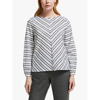 shop for John Lewis & Partners Cotton Stripe Top at Shopo