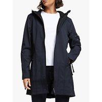 shop for Ilse Jacobsen Hornbæk 3/4 Length Raincoat, Indigo at Shopo