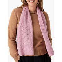 shop for Brora Cashmere Pointelle Scarf, Wild Rose at Shopo