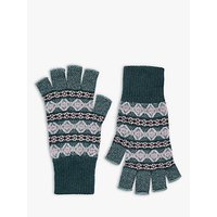 Brora Cashmere Abstract Pattern Fingerless Gloves