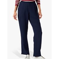 shop for Brora Wool Crepe Trousers, Marine Blue at Shopo