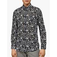 shop for Ted Baker Dillan Floral Shirt, Black at Shopo
