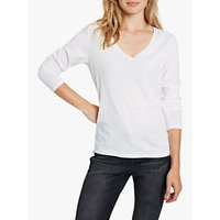hush Long Sleeve Slub V-Neck T-Shirt