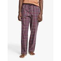 John Lewis & Partners Organic Cotton Mullberry Check Pyjama Pants, Multi
