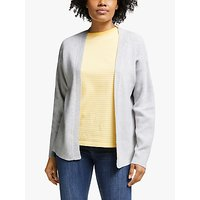 Collection WEEKEND by John Lewis Cotton Edge to Edge Cardigan, Silver Grey Melange