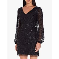 Adrianna Papell Petite Beaded Cocktail Dress, Black