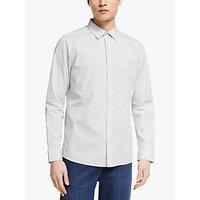 Kin Cotton Micro Grid Check Shirt, White/Green