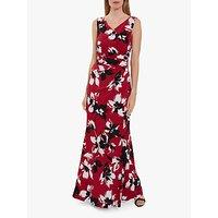 Gina Bacconi Emaline Floral Maxi Dress, Claret
