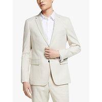 Kin Linen Blend Tailored Fit Suit Jacket, Natural