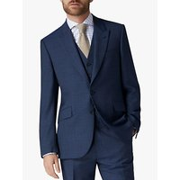 Jaeger Mini Grid Wool Regular Fit Suit Jacket, Navy