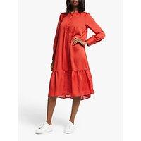 Numph Numascha Long Sleeve Dress, Red