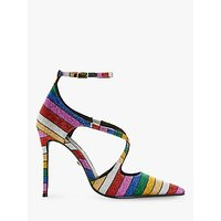 shop for Dune Divaa Embellished Cross Strap Court Shoes, Multi at Shopo
