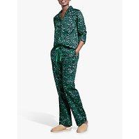 hush Star Cotton Pyjama Set, Midnight/Jelly Bean