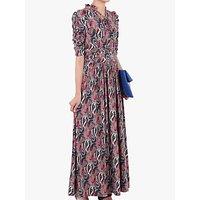 Jolie Moi Tie Neck Half Sleeve Paisley Print Dress, Pink/Multi