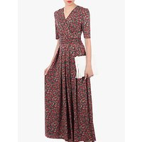 Jolie Moi Cross Front Maxi Dress, Red Multi
