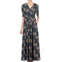 Jolie Moi Cross Front Maxi Dress, Green Multi