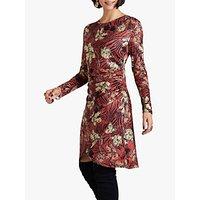 Yumi Floral Stripe Dress, Rust