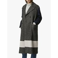 French Connection Tweed Long Peacoat, Salt/Pepper
