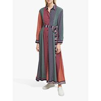 French Connection Claudina Drape Dress, Cinnamon/Laurel
