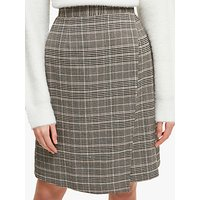 French Connection Amati Check Wrap Skirt, Grey Mutli