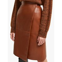 French Connection Abri Leather Wrap Skirt, Casablanca