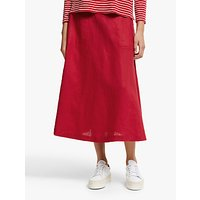 John Lewis and Partners Linen A-Line Midi Skirt