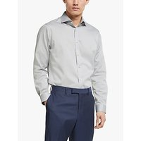 John Lewis & Partners Non Iron Twill Tailored Fit Shirt, Grey