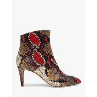 shop for L.K.Bennett Bethan Snake Print Leather Ankle Boots, Multi at Shopo