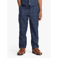 John Lewis and Partners Heirloom Collection Boys Check Trousers, Blue