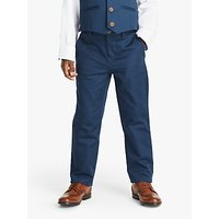 John Lewis and Partners Heirloom Collection Boys Satin Suit Trousers, Blue