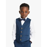 John Lewis and Partners Heirloom Collection Boys Cotton Sateen Waistcoat, Blue