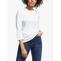 Collection WEEKEND by John Lewis Foil Flower Top, White