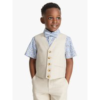 John Lewis and Partners Heirloom Collection Boys Cotton Linen Waistcoat, Beige