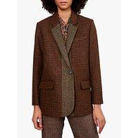Gerard Darel Viera Houndstooth Wool Jacket, Camel