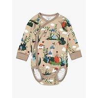 Polarn O. Pyret Baby Organic Cotton Nordic Bodysuit, Simply Taupe