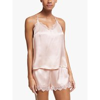 John Lewis and Partners Katia Camisole And Short Silk Pyjama Set, Pale Pink